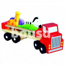 Medinis sunkvežimis su gyvūnėliais, 18 mėn+