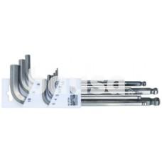 Inox ofsetinių ilgų apvalių ir šešiakampių raktų rinkinys 1,5-10mm 9 vnt