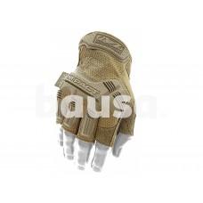 Bepirštės Pirštinės Mechanix M-Pact® FINGERLESS Coyote 9/M dydis. Velcro, TrekDry®, dirbtinė oda, delno, krumplių, pirštų apsauga