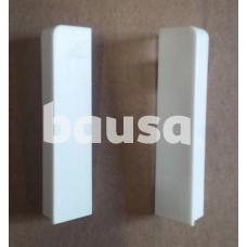 PVC užbaigimas grindjuostei LS75 VENEZIA baltos spalvos (2 vnt)