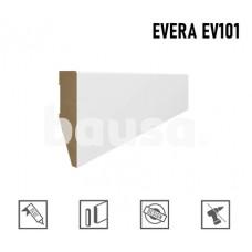 Grindjuostė MDF Evera (EV101) balta