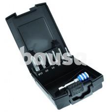 "1/4"" hex HSS machine tap set 7pcs ØM3-10mm + bit holder ""Half-box"""