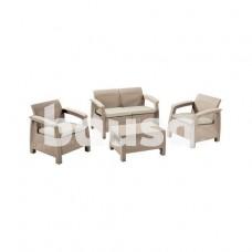 Sodo baldų komplektas Corfu Box 3253929117138, rudas, 4 vietų