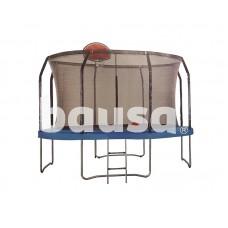 """Batutas 12"""" 366 cm skersmens, su tinklu, kopėčiomis ir krepšinio lenta"""