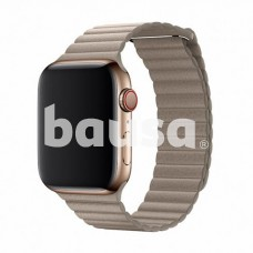 Devia Elegant Leather Loop(44mm) for Apple Watch stone