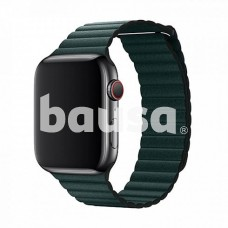 Devia Elegant Leather Loop(44mm) for Apple Watch forest green