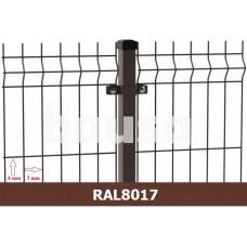 Segmentinė tvora EKO, ruda, 2500 x 1230 mm (3/4 mm)