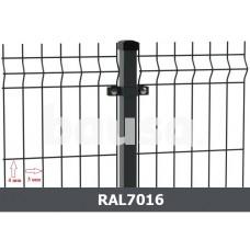 Segmentinė tvora EKO, antracitas, 2500 x 1230 mm (3/4 mm)