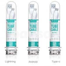 Devia Kintone Series tube cable suit (30pcs/suit) white
