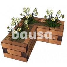 Lysvė medinė ML8D14 - 86,4 x 79,2 x 28,5 cm
