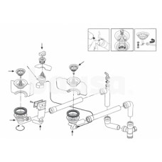 Ventilis FRANKE plautuvėms LIX 651, MOX 651, MOX 660, EFX 651-78, D 3'1/2, ekscentrinis, 112.0006.263