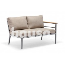 Sodo baldų komplektas, 2 sofos 126 x 78 x 75,5 cm, kampas 78 x 78 x 75,5 cm, stalas 75 x 75 x 45 cm