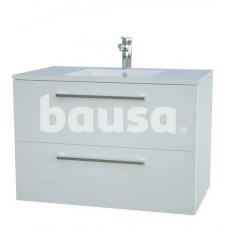 Vonios spintelė su praustuvu RB BATHROOM Allegro, 76 x 50 x 44,5 cm, 2 stalčiai, blizgi balta