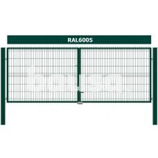 Žali vartai segmentiniu užpildu, 153 x 400 cm
