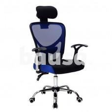 Biuro kėdė 158, juoda / mėlyna