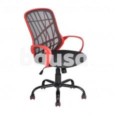 Biuro kėdė Desert WB, juoda / raudona
