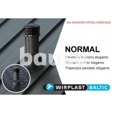 Ventiliacinis kaminėlis WIRPLAST Normal valcuoto profilio, trapecijos pavidalo stogams