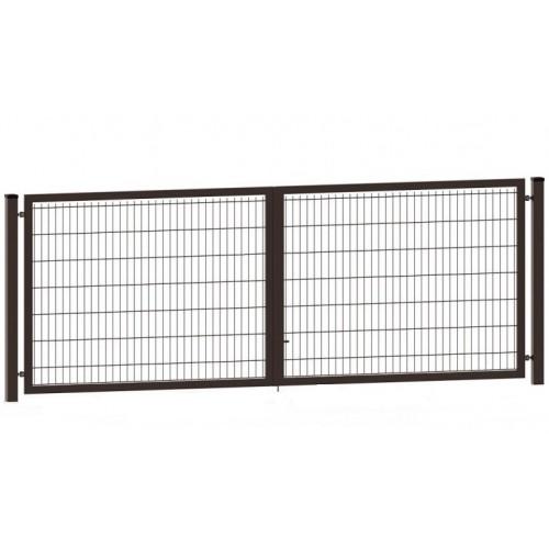 Segmentiniai vartai 4000 x 1230 mm, rudi