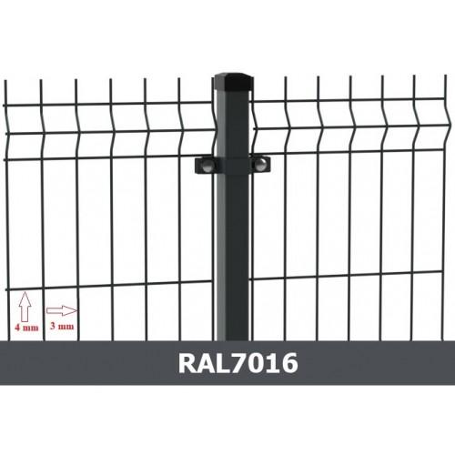 Segmentinė tvora EKO, antracitas, 2500 x 1530 mm (3/4 mm)