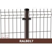 Segmentinė tvora EKO, ruda, 2500 x 1530 mm (3/4 mm)