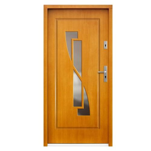 Medinės lauko durys Modern P109