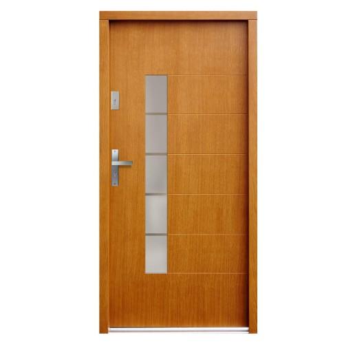 Medinės lauko durys Modern P119