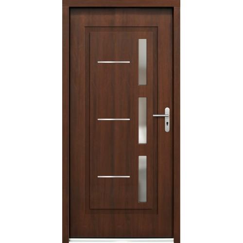 Medinės lauko durys Inox P102