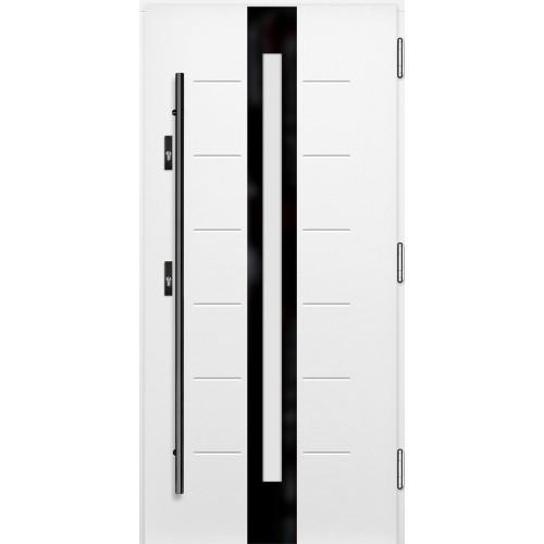Medinės lauko durys Glass P123