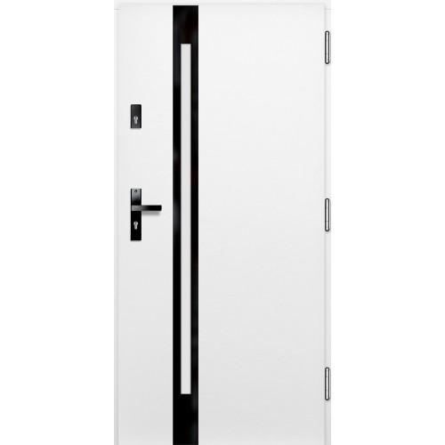 Medinės lauko durys Glass P124