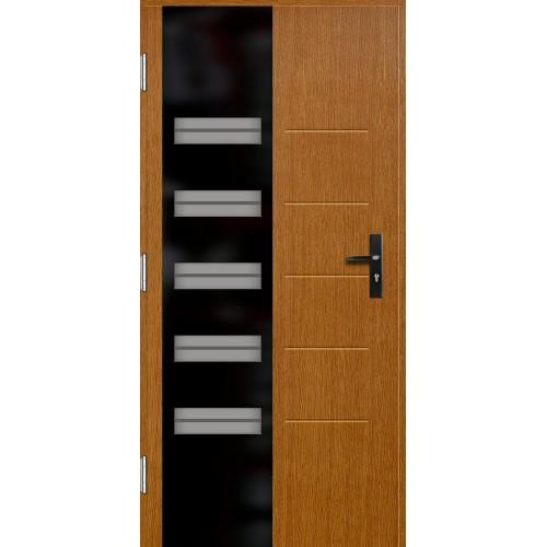 Medinės lauko durys Glass P126