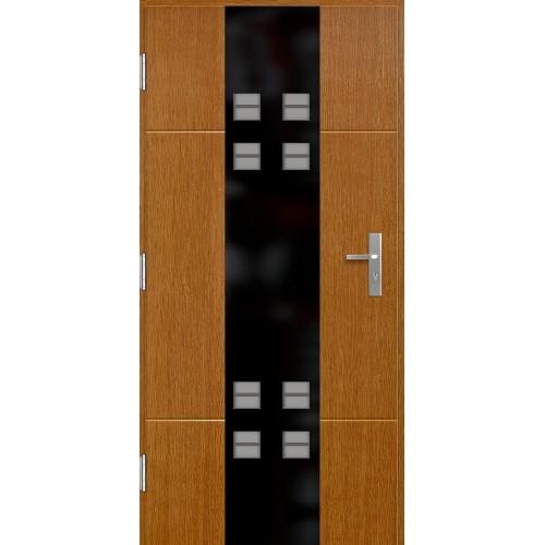 Medinės lauko durys Glass P127