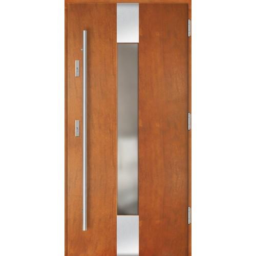 Medinės lauko durys Inox P129