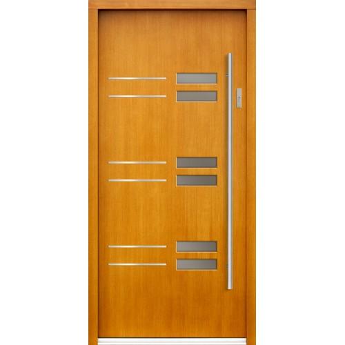 Medinės lauko durys Inox P134