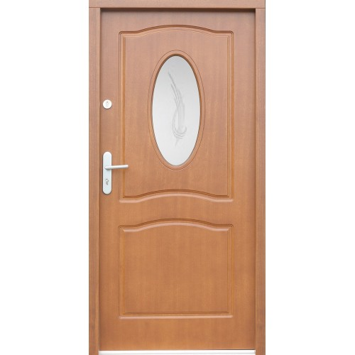 Medinės lauko durys Clasic P23