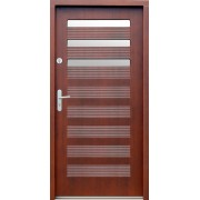 Medinės lauko durys Modern P26