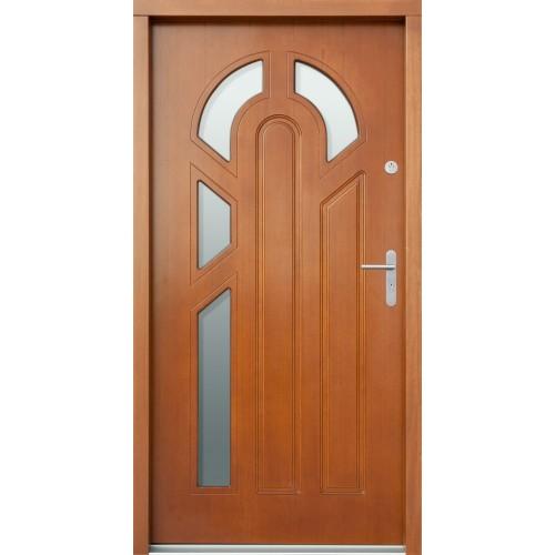 Medinės lauko durys Clasic P33