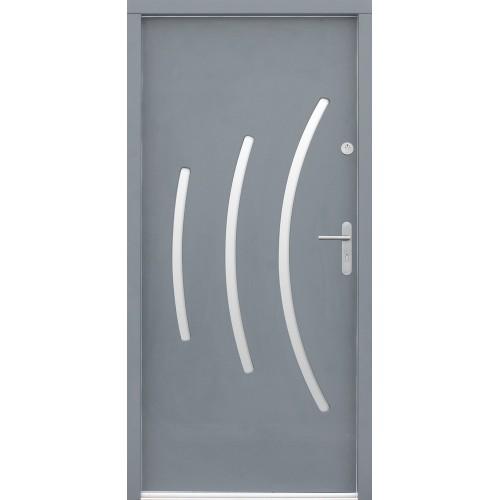 Medinės lauko durys Modern P50