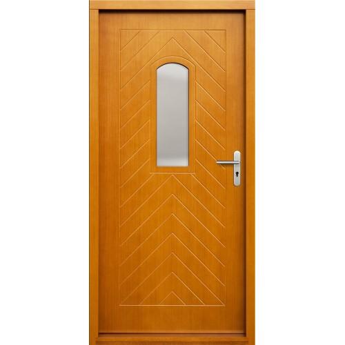 Medinės lauko durys Clasic P54