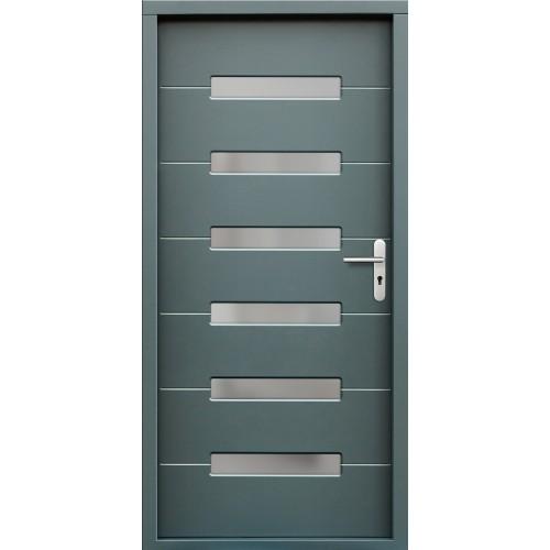 Medinės lauko durys Modern P55
