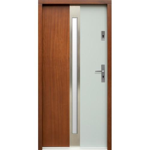 Medinės lauko durys Inox P57