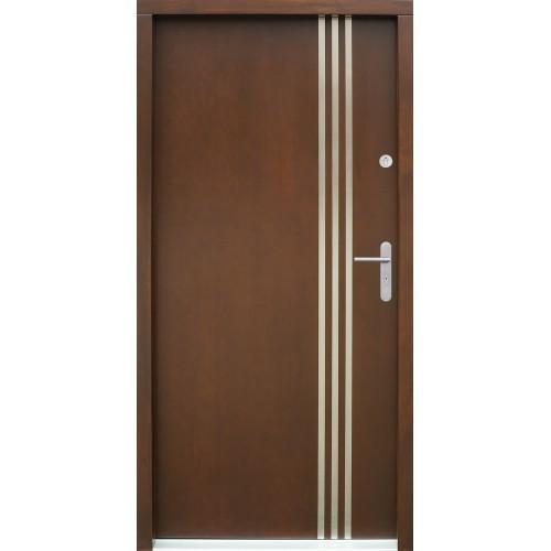 Medinės lauko durys Inox P58