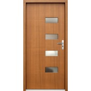 Medinės lauko durys Modern P69
