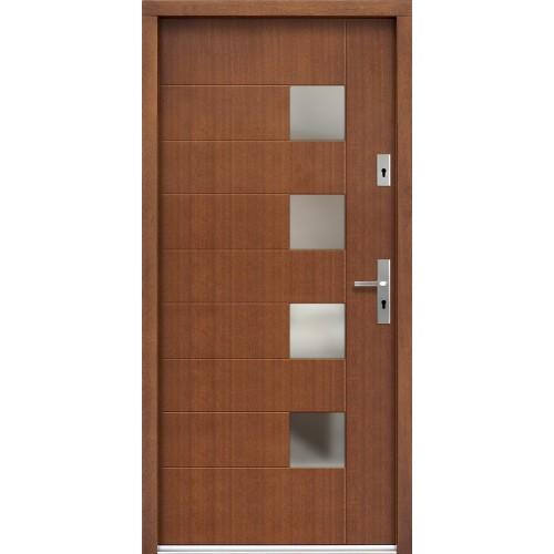 Medinės lauko durys Modern P74