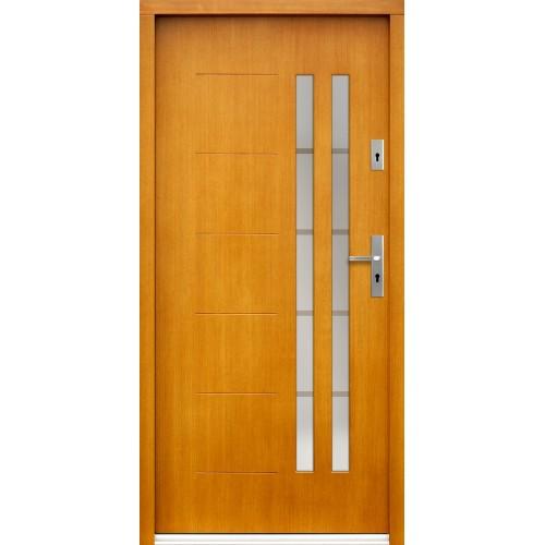 Medinės lauko durys Inox P82