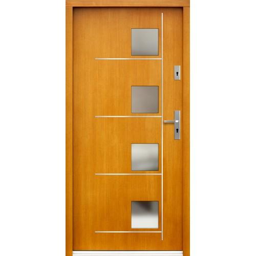 Medinės lauko durys Inox P89