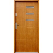 Medinės lauko durys Modern P92
