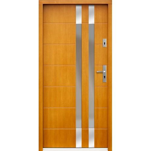 Medinės lauko durys Inox P95