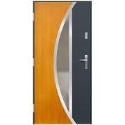 Medinės lauko durys Inox P135