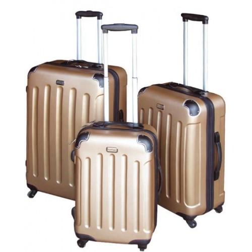Plastikinis lagaminas MC3000, aukso spalvos, 41 x 27 x 60 cm