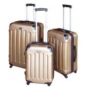 Plastikinis lagaminas MC3000, aukso spalvos, 48 x 30 x 70 cm
